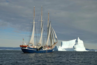 Sailing Boat in Greenland