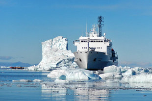 Expedition Ship in Canadian High Arctic - David McEown