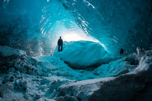Ice Cave Northern Lights Iceland Bjorn Koth