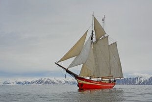 Sailing Ship in Norway, Jan Belgers