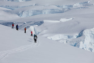 Snowshoeing at Stoney Point in Antarctica - Troels Jacobsen