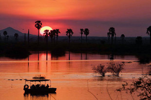 Sunset on the Rufiji River in the Selous Game Reserve