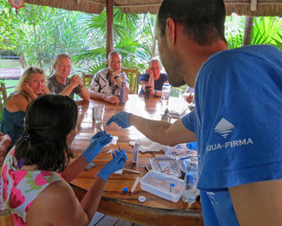 Dr Chris Rohner Introduces Preparation of Whale Shark Skin Samples