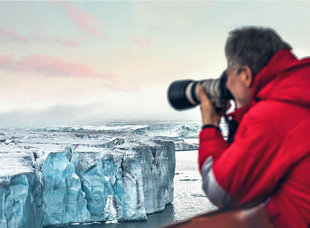 Photographer in Franz Josef Land