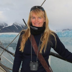 Charlotte Caffrey, co-founder of Aqua-Firma - Marine Scientist & regular leader of Polar Voyages to the Arctic & Antarctica