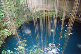 A Typical Cenote in Mexico