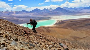 Hiking in the Atacama Desert