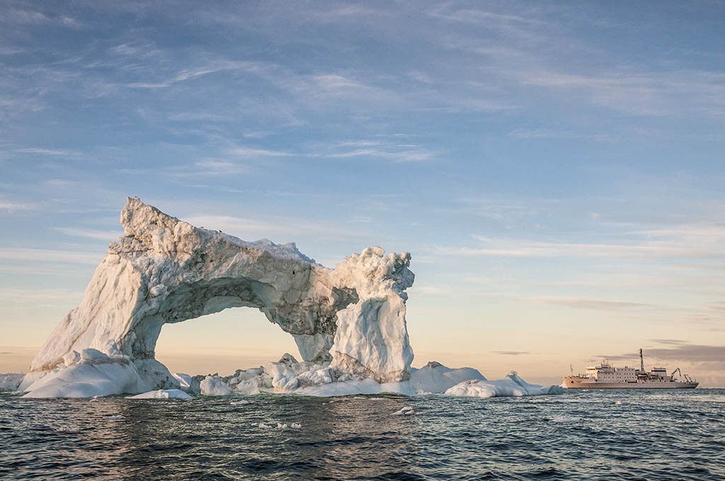 Huge Iceberg Arch in Canadian High Arctic - David McEown