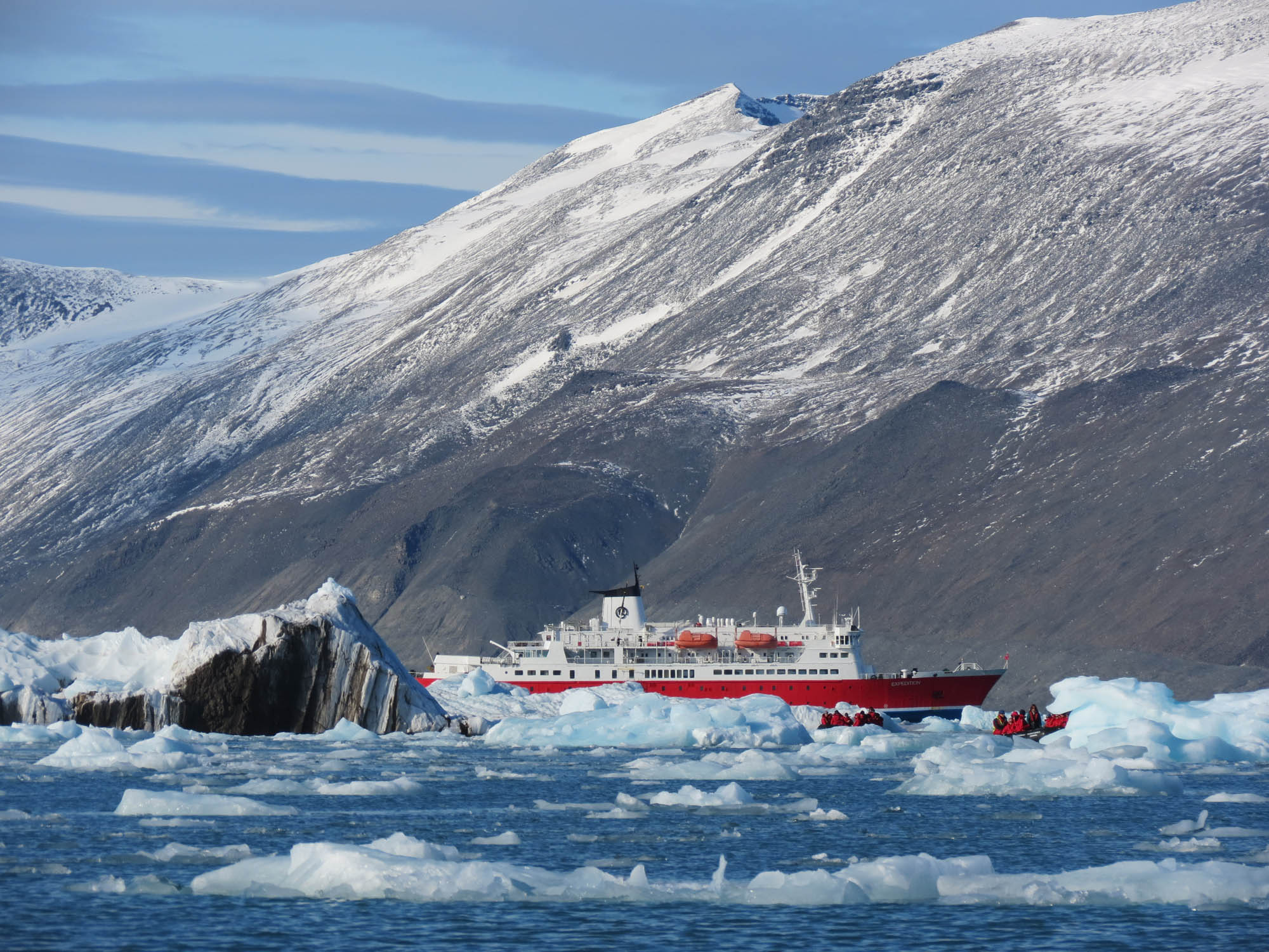 Ice Strengthened Expedition Ship in Monacobreen, Spitsbergen - Jen Squire